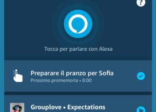 App Alexa presenta una nuova schermata principale ed altre novità