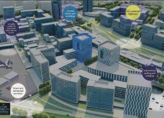 La città intelligente per i test dei veicoli a guida autonoma