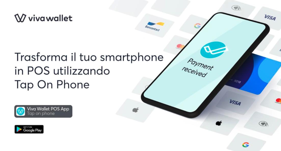 Viva Wallet Tap on Phone